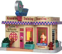 LEMAX  Bobbies Poodle Parlor -Lighted Holiday Village Building -NO OUTER BOX