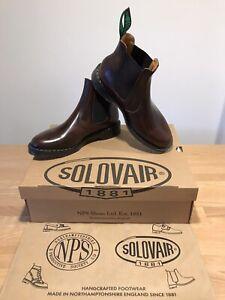 NPS SOLOVAIR Burgundy Rub Off Shine Dealer Chelsea Boot! SizeUK9.5!New!Only£149!
