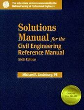 Solutions Manual for the Civil Engineering Reference Manual