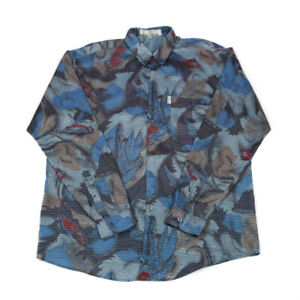 Vintage SANT ANGELO Patterned Shirt | Medium | Retro Button Hawaiian Festival