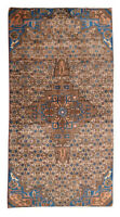 3x7 Oriental Vintage Hand Knotted Wool Traditional Geometric Runner Area Rug