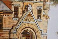 Orig Oil on Canvas Artwork Castle of St. Boniface Wood Frame Signed Smith
