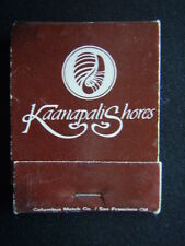 KAANAPALI SHORES HOTEL CORPORATION OF THE PACIFIC 30 YEARS EXPERIENCE MATCHBOOK