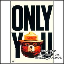 Fridge Fun Refrigerator Magnet SMOKEY THE BEAR Retro AD Poster -Version A-