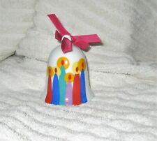 Hallmark Mother and Dad Porcelain Bell Ornament 1986 Christmas