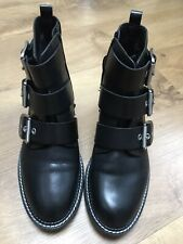 M&s Black Buclke Ankle Boots. Size 5. Worn Once.