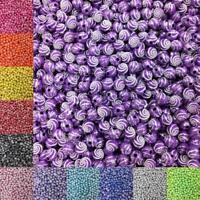 100pcs Acrylic Beads 8mm Round Spiral Pattern DIY Craft Necklace Bracelet Making