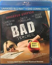 Bad Teacher (Blu-ray/DVD, 2011, 2-Disc Set, UNRATED) NEW, SEALED