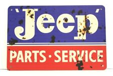 New Jeep Parts & Service Tin Poster Sign Man Cave Vintage Style Garage Willy's
