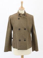 Nicole Farhi Womens Mocha Wool/Alpaca/Cashmere Jacket Size 10