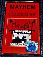 MAYHEM - Deathcrush. Mint Cassette Tape Very Rare Official Morbid Noizz