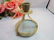 Regent Of London brass candle holder with silk insert