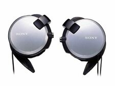 SONY Clip-on Retractable Cable Stereo Headphones MDR-Q68LW S Silver w/ Tracking