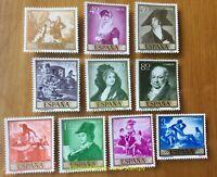 EBS Spain España 1958 Stamp Day Paintings (I) Francisco de Goya 1107-1116 MNH**