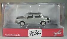Herpa 1/87 n. 034357 SIMCA RALLY II LIMOUSINE ARGENTO METALLIZZATO OVP #7236