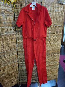 Vintage 1970s Walls Leisur-wear Leisure Jumpsuit Romper Women RED