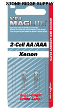 2 Pack Maglite LM2A001 Xenon 2-cell AA / AAA Mini Bulb Replacement Lamp Genuine