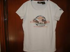 Femmes Blanc Harley Davidson, 100th anniversaire, collection, tee shirt taille S.