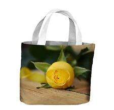 GIALLO rosa sulla tabella TOTE shopping Bag For Life-I FIORI FLOREALE FLOWER