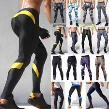 Mens Gym Fitness Leggings Compression Base Layer Sports Workout Skin Long Pants