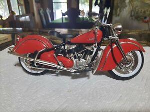 INDIAN MOTORCYCLE 1948 MODEL UNBRANDED 1:10 SCALE DIE CAST $19.00