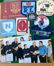 Collectors BARGAIN Lot (10) RUGBY LEAGUE Used Jersey BADGES Patches + FREE POST