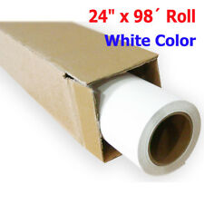 "24"" x 98´ Roll White Color Printable Heat Transfer Vinyl Film For T-shirt Fabric"