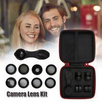 10en1 iPhone Kit objectifs appareil photo angle Fisheye pour Samsung portable BM