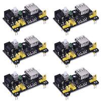 MB102 Breadboard Power Supply Module 6pcs Mini USB 3.3V 5V /DC 7-12V  Arduino NE