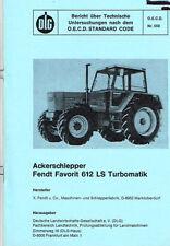 Fendt Favorit 612 LS Turbomatik, orig. DLG- Bericht 1977