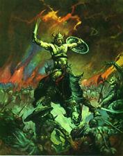 FRANK FRAZETTA Fantasy Art Print THE BESERKER  3.1 1979