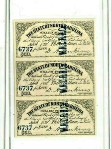 "3 X $30 (BOND NOTES)1800'S (NORTH CAROLINA)  3 X $30  ""BLUE SERIALS""  CRISPY!!!!"