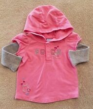 ADORABLE! DISNEY 3-6 MONTH PINK HOODED POOH SHIRT