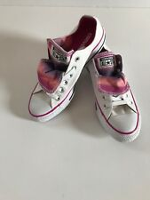 CONVERSE CT All Star White/Pink Double Tongue 552581F Women's US 7