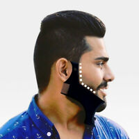Men Hair Beard Shaping Styling Template Comb Trim Beauty Tool ABS Shaving Black