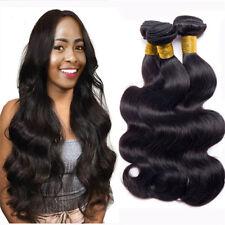 7A 3Bundles 100% Brazilian Body Wave Virgin Human Hair Extension Weave Weft 150g