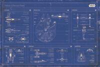 STAR WARS - REBEL FLEET BLUEPRINTS POSTER 24x36 - 52778