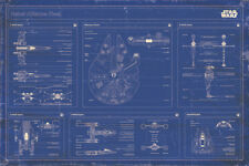 STAR WARS - REBEL FLEET BLUEPRINTS POSTER 24x36 - 52778