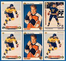RC (6) Peter Forsberg Rookie Card Lot 1991-1992 Upper Deck