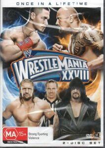 WWE Wrestling DVD Wrestlemania 28 XXVIII (2 x DVD Set) NEW & SEALED Free Post