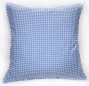 Ra002a Blue White Checker Soft Cotton Fabric Cushion Cover/Pillow Case*Custom