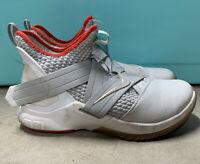 Nike LeBron James Soldier XII 12 Light Bone Gray Size 10 Basketball Mens Shoes