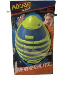 Nerf Sports WeatherBlitz Foam Foootball.(Blue and green) All Weather Play
