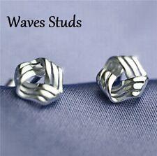 925 Sterling Silver Stud Back Earrings Cubic Zirconia Crystal Women's Earrings
