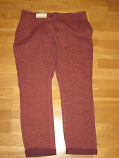 next ladies brown mix cotton chino trousers size 10 regular brand new with tags