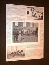 Milano nel 1894 Il Tattersall Vendita di cavalli all'asta Con articolo