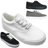 NEW Kids' Casual Canvas Lace Up Low Top Sneaker Shoes Boys Girls Size 10 to 4