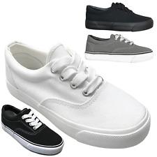 Nuevos Niños Casual de Lona con Cordones Bajo Top Tenis Zapatos Chicos Chicas Tamaño 10 a 4