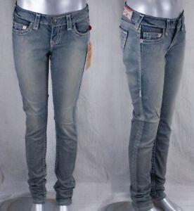 True Religion Jeans brand Stella dusty pink grey Super T trail driver  WJC592CD8