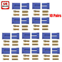 10 Pairs EC2 Connector Plug for RC Car Plane Helicopter Battery Lipo ESC
